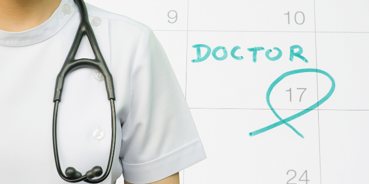 calendar with doctor appointment